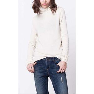 LORD & TAYLOR Cream Turtleneck Cashmere Sweater